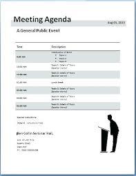 Agenda Template Word 2013 School Meeting Agenda Template For Word 1 Templates