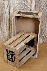Wooden Crate With Handles Chalkboard Crates Rope Handles 10