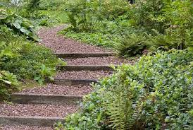 Small Picture Wooden Outdoor Stairs and Landscaping Steps on Slope Natural