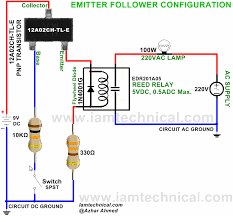 emitter follower configuration pnp transistor 12a02ch tl e switch circuits · emitter follower configuration pnp transistor 12a02ch tl e switch reed relay edr201a05 iamtechnical