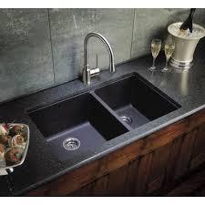 Blanco 440185 Diamond White Equal Double Bowl Silgranit Undermount Blanco Undermount Kitchen Sink