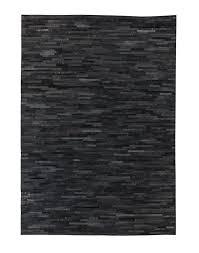 area rug cowhide black