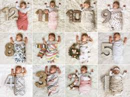 diy monthly baby photos project nursery