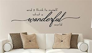 urbaa room wall decor stickers and i think to myself what a wonderful world vinyl wall on removable wall decor stickers with amazon urbaa room wall decor stickers and i think to myself