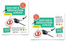 School Poster Designs Driving School Poster Template Design