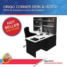 Image Is Loading HomeOfficeCornerWorkstationDeskwithHutchComputer  E