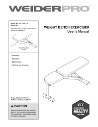 Weider 8530 Weight Chart Weider 8530 System 15927 Users Manual Manualzz Com