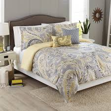 better homes gardens full paisley yellow grey comforter set 5 piece