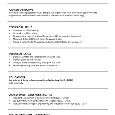 Sample Resume For It Graduates Free Resumes Tips