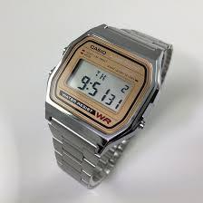 men s casio gold tone classic digital watch a158wea 9