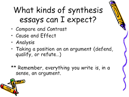 the synthesis essay from steps to a ppt video online  what kinds of synthesis essays can i expect