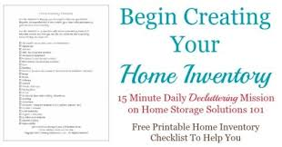 Printable Home Inventory Checklist: Make Sure You Don't Forget Anything
