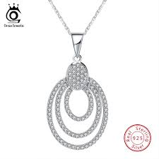 <b>ORSA JEWELS</b> Real <b>S925 Sterling</b> Silver Women Necklace with ...