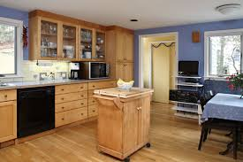 Real Wood Kitchen Doors Blue Kitchen With Oak Cabinets