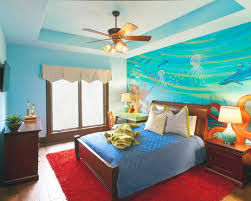 Seductive Bedroom Cool Blue Nuance Of Bohemian Themed Bedroom Which Is Equipped With