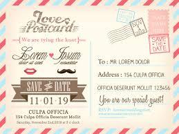 Wedding Invitations Postcard Design Graphic Vector 03 Free Download