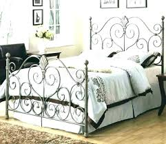 Wrought Iron Canopy Bed Frame Queen Antique And Wood Size Buy Home ...