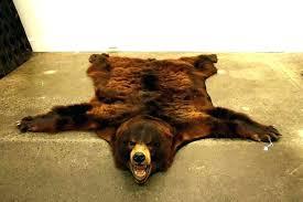bear skin rug cost faux to enlarge with head fake fur examples bearskin brown rugs