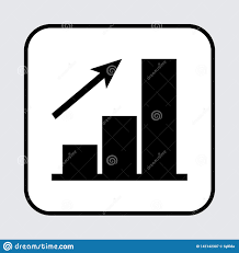 Diagram Icon With Arrow Chart Progress Vector Illustration