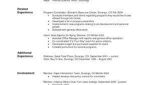 Resume Sample Resume Hotel Waitress Awesome Pre Written Resume