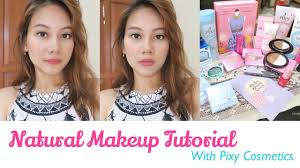 natural makeup tutorial with pixy cosmetics indonesia