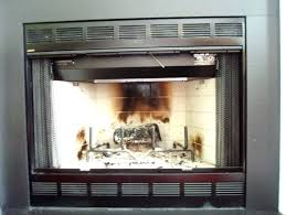gas fireplace glass doors how do you clean gas fireplace glass doors with blower to tempered