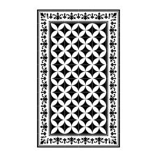 Vinyl Kitchen Floor Mats Buy Beija Flor Sofi Vinyl Floor Mat Black White Amara