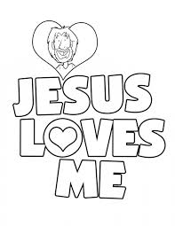 Small Picture Jesus Loves Me Coloring Page fablesfromthefriendscom