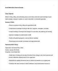 Social Media Resume Beauteous 28 Social Media Resumes Templates PDF DOC Free Premium Templates