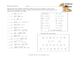 solving radical equations math worksheets to go them and try to solve