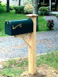 Wood Mailbox Post Posts For Sale Double Plans Menards wildervoiceorg