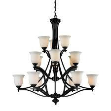 filament design lawrence 15 light dark bronze modern chandelier with matte opal glass shades
