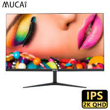 MUCAI 24/27 Inch 2K Monitor 75Hz Desktop PC Lcd Display Gaming Flat Panel  Screen Computer LED 2560*1440 HDMI/DP|LCD Monitors