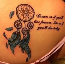 Dream Catcher Tatt 100 Dreamcatcher Tattoos With Quotes 42