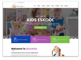 Kids School Website Template 30 Best Education Website Templates 2019 Themefisher