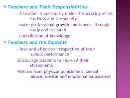 professional ethics for teachers