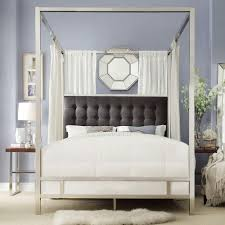 Taraval Chrome King Canopy Bed