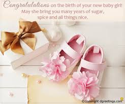 Congratulations On The Birth Of Your New Baby Girl New Born