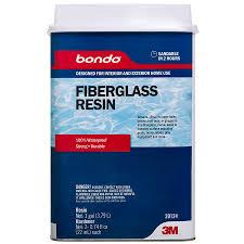 bondo 127 99 fl oz brown fiberglass resin repair