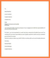 14 Warning Letter To Employee For Negligence Resume Package