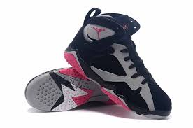 air jordan shoes for girls grey. air jordan 7 gs \u201cfuchsia flash\u201d black/sport fuchsia pink-grey girls for sale shoes grey r