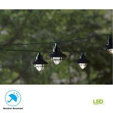 20 light 231 in solar black integrated led nautical string light