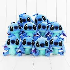 "<b>10pcs</b>/<b>lot 4</b>""10cm Lilo & Stitch Plush Toy Doll with Hook Soft Stuffed ..."