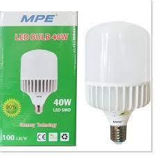 Đèn Led bulb trụ MPE 20w - 30w - 40w- tán nhôm tản nhiệt Điện Gia Dụng Bảo  Minh - Điện Gia Dụng Bảo Minh