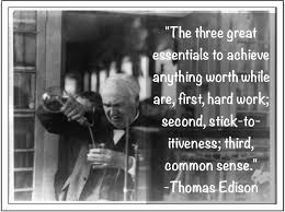 Thomas Edison On Success Based On Hard Work And Persistence