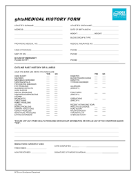 Soccer Player Medical History Form Template In Word And Pdf Formats