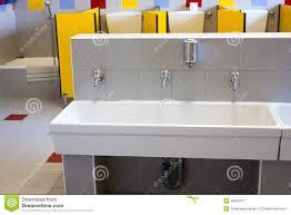 elementary school bathroom design. Bathrooms Of A School For Children With Low Ceramic Sinks Stock Elementary Bathroom Design