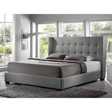 Baxton Studio Luna Grey Linen Platform Bed  Free Shipping Today Linen Platform Bed