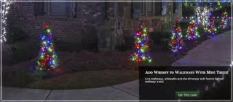 outdoor christmas tree lights led. brighten your yard with walkway christmas trees. outdoor tree lights led o