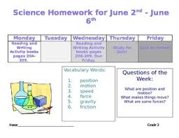 Weekly homework sheet 2